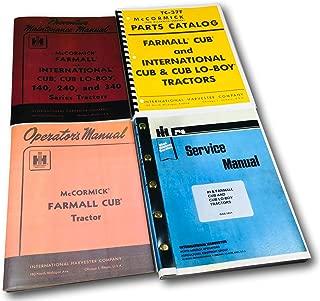 Farmall Cub Ih Tractor Manual Set Operators Service Repair Maintenance Parts
