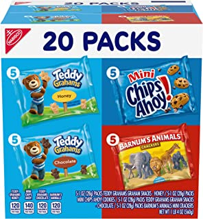 Nabisco Fun Shapes Cookie & Cracker Mix, Variety Pack with Teddy Grahams, Chips Ahoy! Cookies & Barnum's Animal Crackers, ...