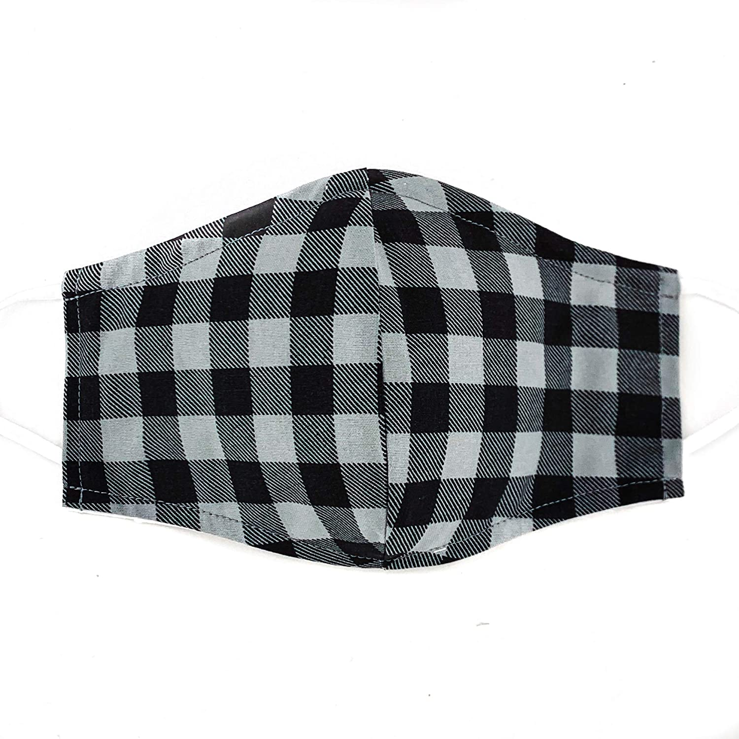 Black Seasonal Wrap Introduction Time sale and Gray Buffalo Plaid Face 3 Kids in Adults for Mask
