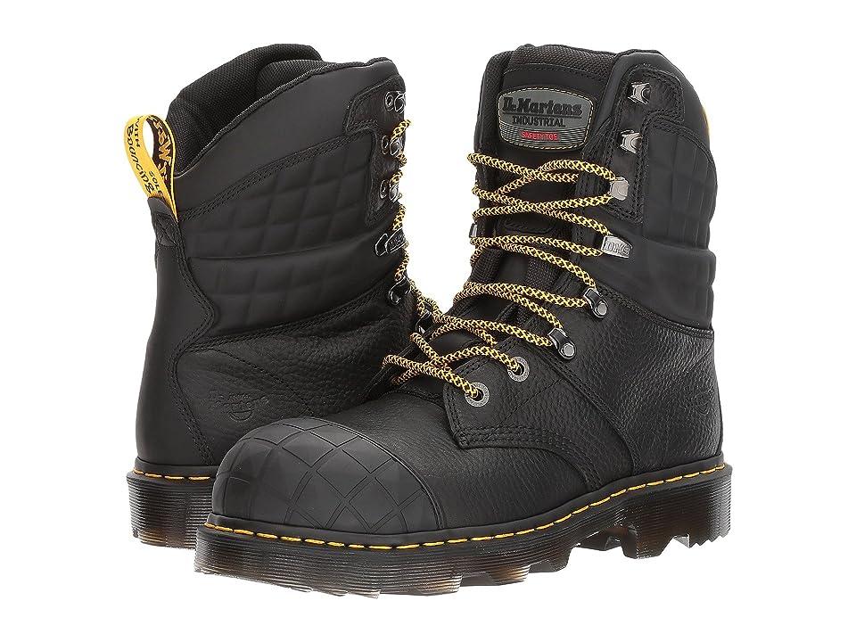 Dr. Martens Moreton Steel Toe (Black Industrial Bear/Black Soft Rubbery) Boots