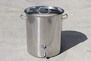 CONCORD Stainless Steel Home Brew Kettle Triply Bottom w/ 2 Couplers (Welded On) (80 QT (TRIPLY Bottom))
