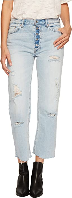 Free People - Rolling On The River Straight Crop in Light Denim