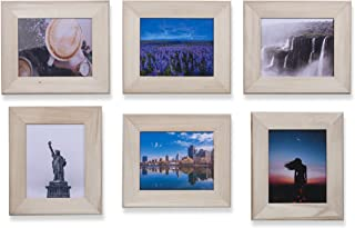 Wallniture 8x10 Unfinished Wood Picture Frames for Home or Office Decor Set of 6
