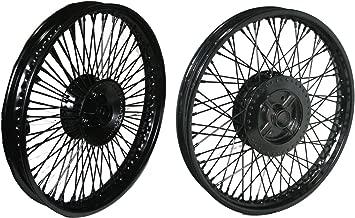 RS Vintage Parts RSV-B00ZFS392S-00059 72 Spoke Fron Rear Disc Brake Black Steel Wheel Rim Wm2-19