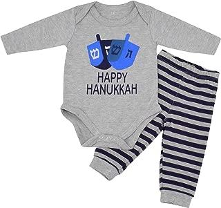 Boys Happy Hanukkah Layette Outfit Set Cap