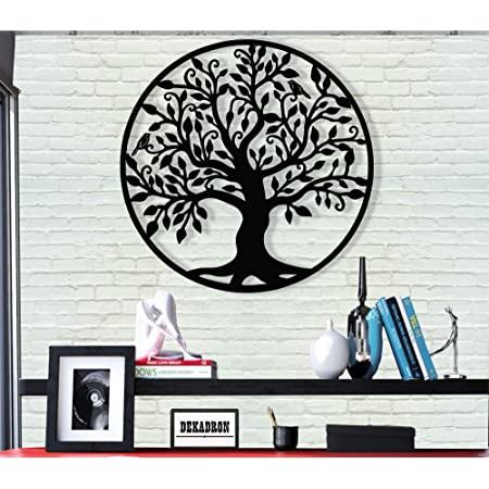 Dekadron Metal Wall Art Tree Of Life Family Tree 3d Wall Silhouette Metal Wall Decor Home Office Decoration Bedroom Living Room Decor Sculpture 17 W X 18 H 44x46cm