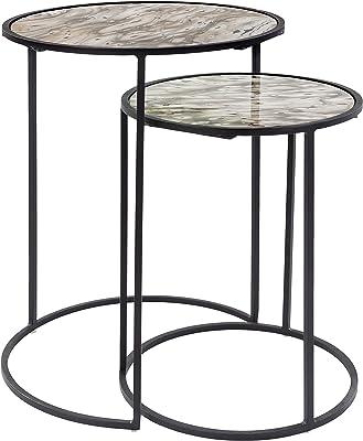 "Artistic Weavers Boda Nesting Table Set, 13"" x 13"" x 17.25"",16"" x 16"" x 21"", Black"