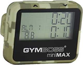 Gymboss miniMAX Interval Timer and Stopwatch - Camouflage/TAN SOFTCOAT