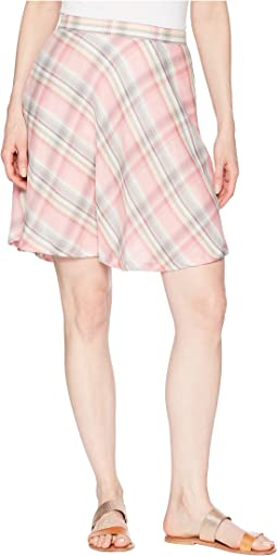 1592 Pink Plaid Circle Skirt