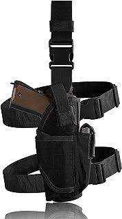 Evermacro Adjustable Tactical Army Drop Leg Holster for Pistol Gun Drop Puttee Thigh Holder
