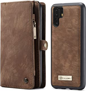 For Huawei P30 Pro CaseMe Flip Leather Wallet Case Cover - Brown