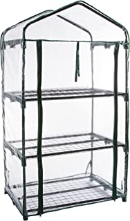 Pure Garden 3-Tier Greenhouse – Outdoor Gardening Hot House with Zippered Cover and Metal Shelves for Growing Vegetables, Flowers and Seedlings