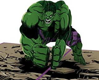 Lovepop and Marvel's Hulk Incredible Dad Pop Up Greeting Card, Father's Day Card, Pop-Up Card, 3D Greeting Cards, Card for Dad