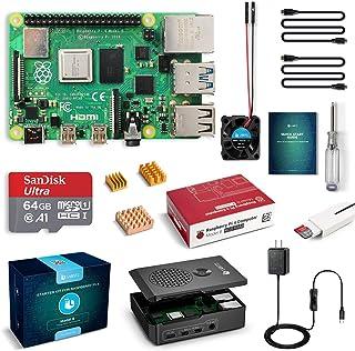 LABISTS Raspberry Pi 4 4B-64GB(技適マーク入)MicroSDHCカード64G/NOOBSシステムプリインストール/カードリーダ /5.1V/3A Type-C スイッチ付電源/MicroHDMI-to-HDMIケーブルライン/三つヒートシンク/簡単に取り付けケース/日本語取扱説明書/24ヶ月保証