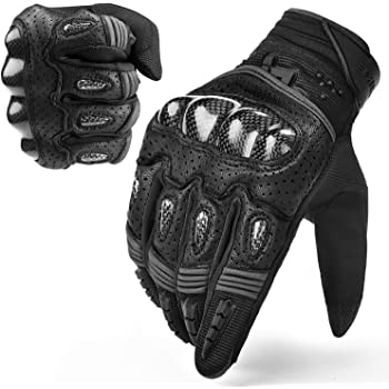 Black, XXL MADBIKE RACING EQUIPMENT Winter Motorcycle Gloves Touchscreen Carbon Fiber Protective Motorbike Powersports Gloves
