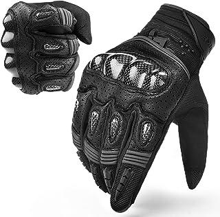 INBIKE Motorcycle Gloves Hard Knuckle Gloves Motorbike Gloves Men Breathbale Carbon Fiber Grey Large IM803