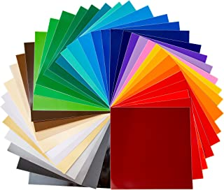 "Sticky Crafts 12""X12"" Permanent Self-Adhesive Vinyl Sheets (36 Pack) Variety of Colors in Glossy (32) Matte (2) and Metallic (2) for Outdoor and Indoor Use, Decals, Letters, Stickers and More!"