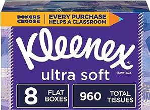 Kleenex Ultra Soft Facial Tissues, 8 Rectangular Boxes, 120 Tissues per Box (960 Tissues Total)