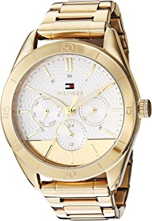 Women's Quartz Watch with Stainless Steel Strap, Yellow, 20 (Model: 1781883)