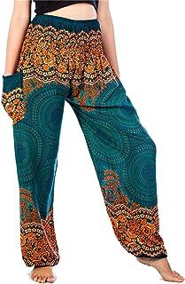 Sponsored Ad - LOFBAZ Harem Hippie Pants for Women`s Yoga Floral Boho Genie Aladdin Clothing