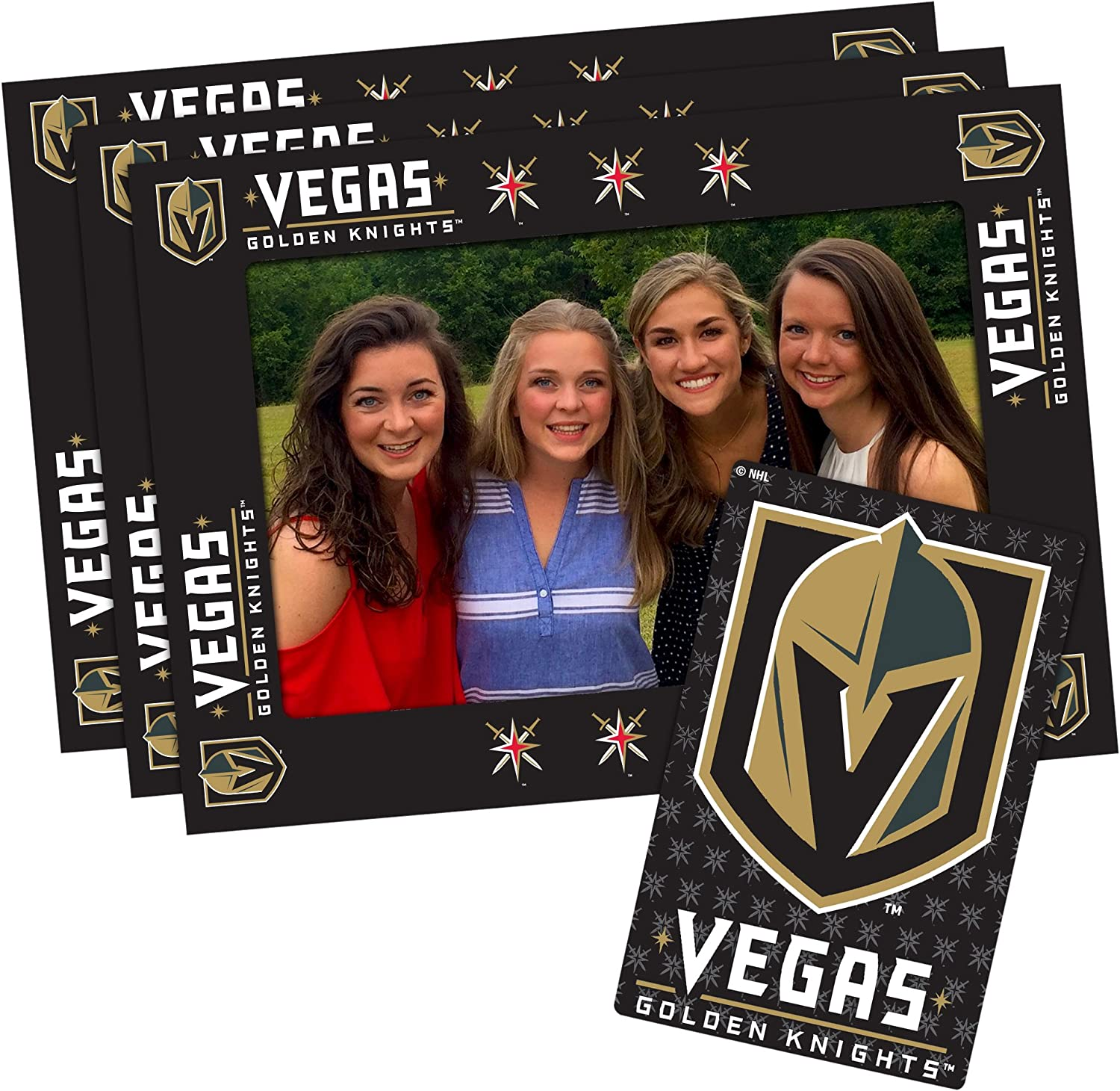 NHL UnisexAdult NHL 4inch by 6inch Magnetic Frame and Bonus Magnet, 3Pack