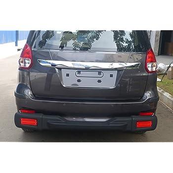 Goldsun high Impact ABS Rear Nudge Guard with Rear Step Rear Bumper Protector with Reflector Strips for Maruti Suzuki Ertiga Facelift 2015-2018 All Variant GOO -Matte Black 