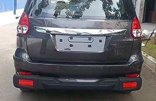 Goldsun high Impact ABS Rear Nudge Guard with Rear Step|Rear Bumper Protector with Reflector Strips|for Maruti Suzuki Ertiga Facelift|2015-2018|All Variant|GOO -Matte Black|