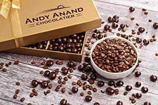 Andy Anand's California Dark Chocolate Covered Espresso Coffee Beans 1 lbs With Teddy Bear for Birthday, Valentine Day, Gourmet Christmas Holiday Food Gift Basket, Thanksgiving Day