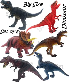 SaleOn Set of 6 Big Size Dinosaur Toy Action Figure Animal Model Collection Learning & Educational Kids Gift Jurassic Sick...