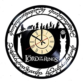 Two Towers Vinyl Clock Gift for Fans The One Ring Wall Decor Sauron the Dark Lord Art Aragorn Living Room Artwork