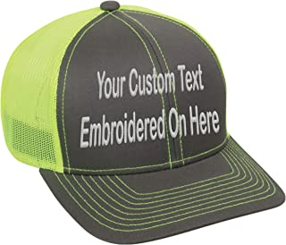 Custom Trucker Mesh Back Hat Embroidered Your Own Text Curved Bill Outdoorcap