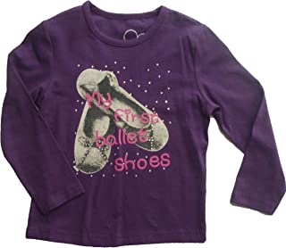 Prinzessin Emmy Ragazze T-Shirt Viola Maglie a Manica Lunga