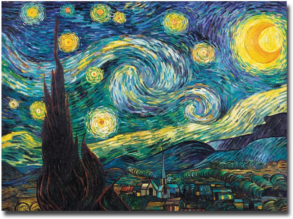 Year-end gift OFFicial Starry Night by Vincent van Canvas Art Wall Gogh 18x24-Inch