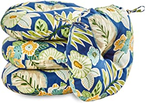 Greendale Home Fashions 18 in. Round Outdoor Bistro Chair Cushion (set of 4), Marlow Floral