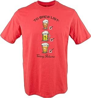 Tommy Bahama Mens Medium to Brew List Graphic Tee Shirt