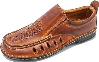 KS® 012 Uomo Pelle scarpe estive marrone