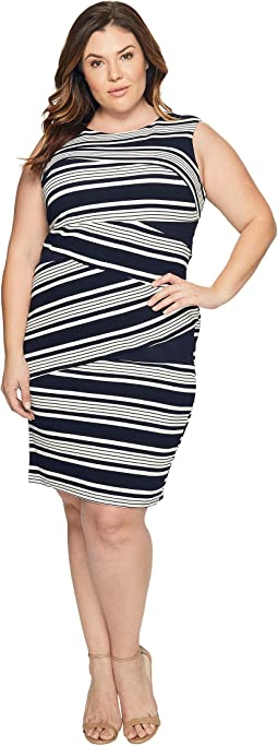 32d4426a Blue Moon/White. 13. Adrianna Papell. Plus Size Sleeveless Stripe Bodycon  Dress. $97.96MSRP: $150.00. Black