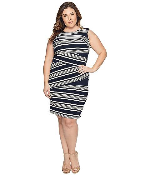 Adrianna Papell Plus Size Sleeveless Stripe Bodycon Dress at 6pm