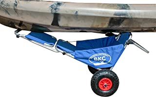 BKC Brooklyn Kayak Company UH-KC274 Rolling Kayak Cart Chair - Folding Wheeled Kayak Cart Chair Combo for Transporting Kayaks, Canoes, SUPs, and Surfboards and for Extra Seating