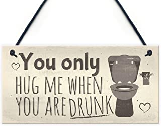 Funny Toilet Bathroom Sign For Door Hanging Plaque For House Friendship Vintage Wall Gift