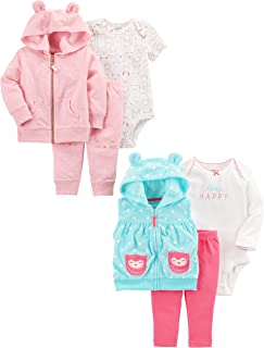 Girls' 6-Piece Jacket and Vest Set