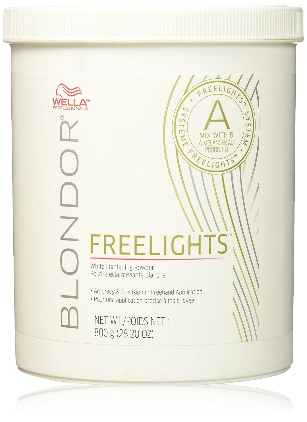 アブストラクト競争セグメントWella プロフェッショナルBlondor Freelightsホワイトライトニングパウダー - 28.20オンス 28.2オンス