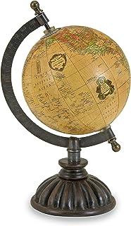 لعبة خريطة العالم من IMAX 5490 - خريطة العالم، منصة غلوب مع قاعدة نهائية من النيكل، كرة أرضية معدنية. ديكور المنزل اكسنتس
