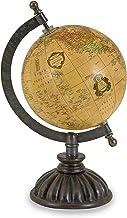 IMAX 5490 Colony Globe - World Globe Map, Globe Stand with Nickel Finish Base, Metallic Globe. Home Decor Accents