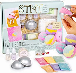 STMT D.I.Y. Bath Bombs Kit by Horizon Group USA, Mix & Mold Your Own 5 Scented Bath Bombs Using Essential Oils, Dried Rose...
