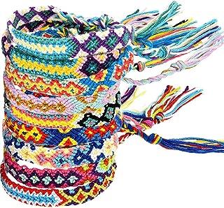 LoveInUSA Braided Bracelets,8 PCS Nepal Style Friendship Bracelets Woven Bracelets Ankle Bracelets Friendship Souvenir