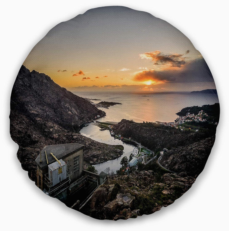 High material Designart Ezaro Panorama ! Super beauty product restock quality top! Galicia Throw Spain' Printed Landscape