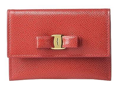 Salvatore Ferragamo Vara Bow Card Case (Lipstick) Handbags