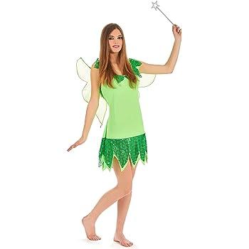 Disfraz de hada verde para mujer Única: Amazon.es: Juguetes y juegos