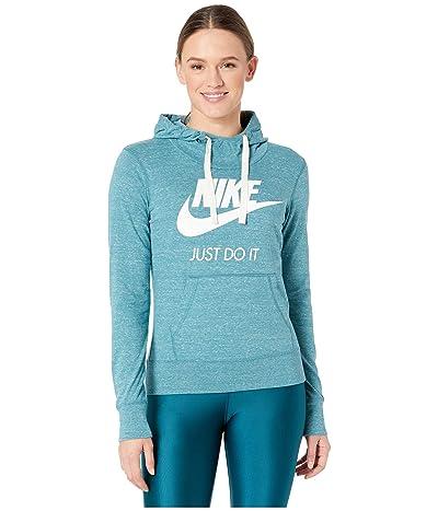 Nike Sportswear Gym Vintage HBR Hoodie (Mineral Teal/Sail) Women